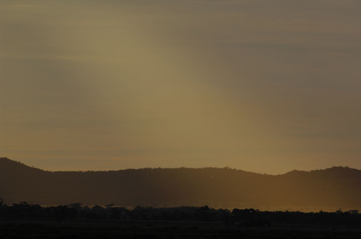 Late evening light over the You Yangs