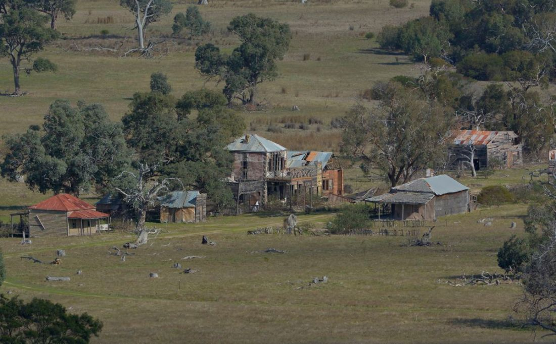 """Old Glenrowan"" the remains of the movie set from 1970  movie ""Ned Kelly"""
